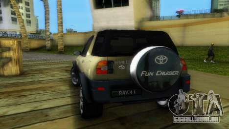 Toyota RAV 4 L 94 Fun Cruiser para GTA Vice City vista direita