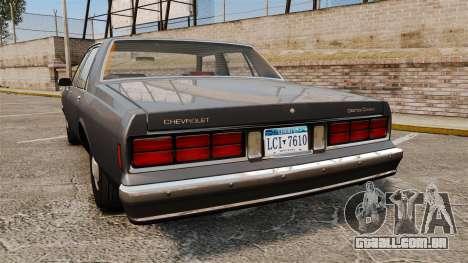 Chevrolet Caprice 1989 v2.0 para GTA 4 traseira esquerda vista
