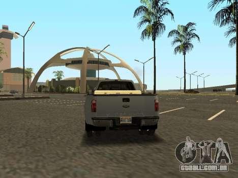 Ford F-350 para GTA San Andreas vista interior