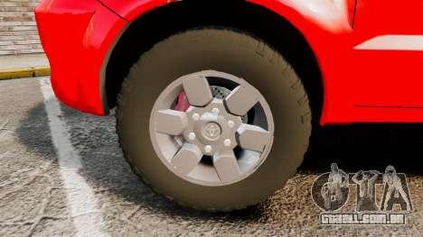 Toyota Hilux French Red Cross [ELS] para GTA 4 vista de volta