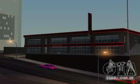 Novo showroom em Dorothi para GTA San Andreas por diante tela
