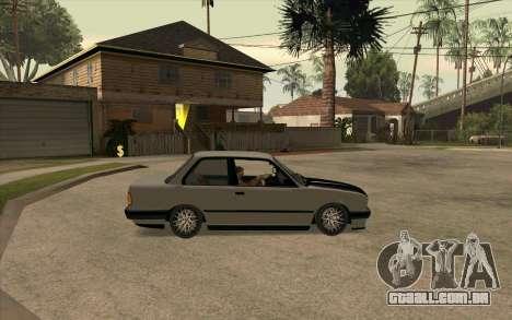 BMW E30 Stance para GTA San Andreas vista direita
