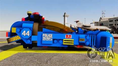 Lego Car Blade Runner Spinner [ELS] para GTA 4 esquerda vista