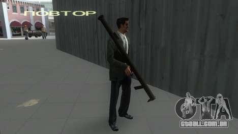 Bazuca de MoH: AA para GTA Vice City segunda tela