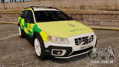Volvo XC70 Paramedic [ELS] para GTA 4