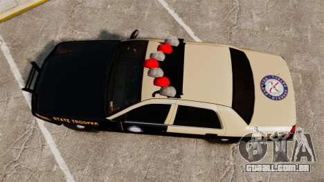 Ford Crown Victoria 1999 Florida Highway Patrol para GTA 4 vista direita