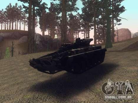 BMP-2 para GTA San Andreas vista traseira