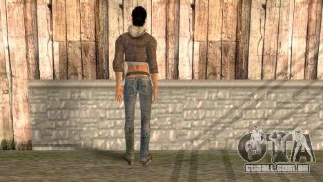 Alyx Vance de Half-Life 2 para GTA San Andreas segunda tela