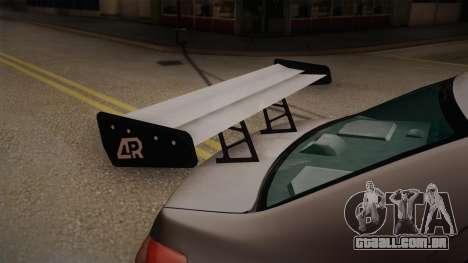 Toyota Vios Slalom Edition para GTA San Andreas vista traseira