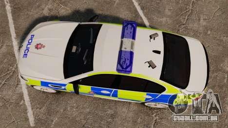 BMW M5 Greater Manchester Police [ELS] para GTA 4 vista direita