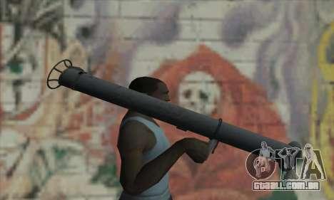 Bazuca para GTA San Andreas terceira tela