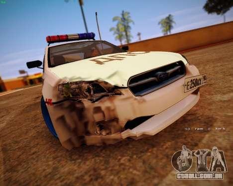 Subaru Legacy para GTA San Andreas vista traseira