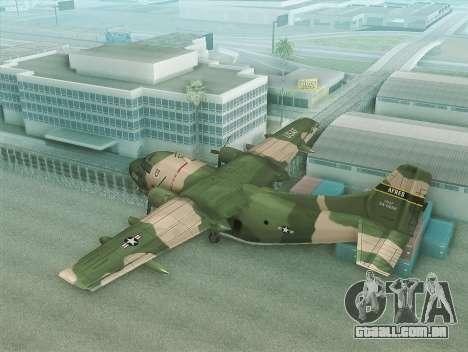 Fairchild C-123 Provider para GTA San Andreas esquerda vista