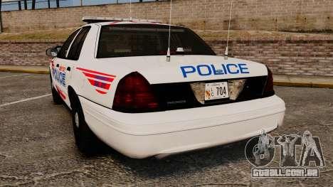 Ford Crown Victoria 2008 LCPD Patrol [ELS] para GTA 4 traseira esquerda vista