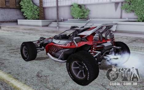 Buggy XCelerator XL para GTA San Andreas esquerda vista