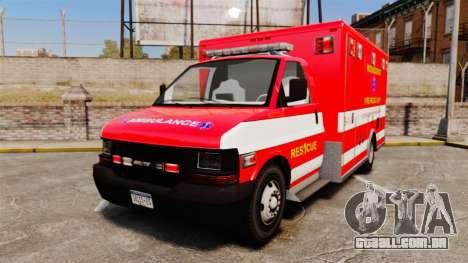 Brute Woonsocket Fire Medic Unit [ELS] para GTA 4