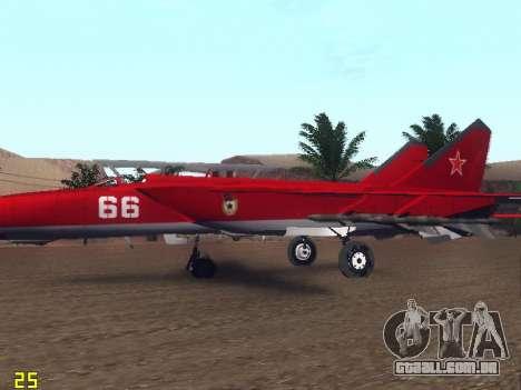 MiG-25 para GTA San Andreas interior