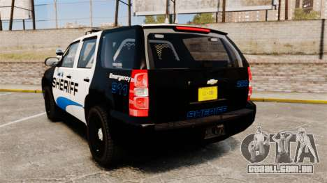 Chevrolet Tahoe 2008 Federal Signal Valor [ELS] para GTA 4 traseira esquerda vista