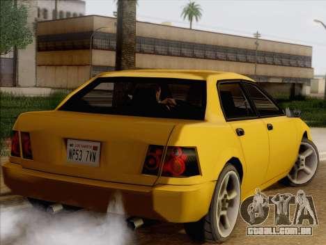 Stratum Sedan Sport para GTA San Andreas esquerda vista