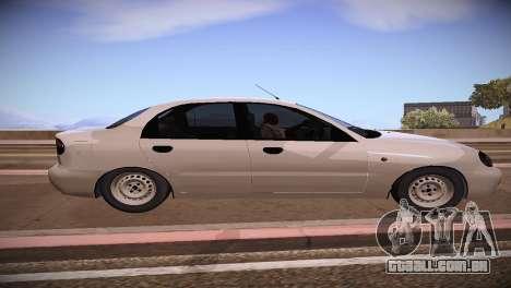 Daewoo Lanos para GTA San Andreas esquerda vista