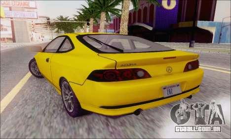 Acura RSX para GTA San Andreas vista traseira