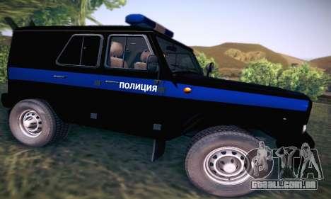 UAZ Hunter polícia para GTA San Andreas vista traseira