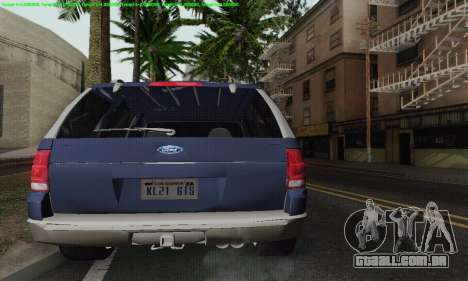 Ford Explorer 2002 para GTA San Andreas vista superior
