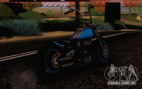 Harley-Davidson Knucklehead para GTA San Andreas esquerda vista