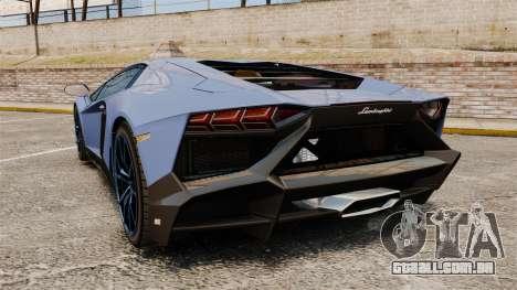 Lamborghini Aventador LP720-4 50th Anniversario para GTA 4 traseira esquerda vista