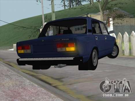 ВАЗ 21074 para GTA San Andreas traseira esquerda vista