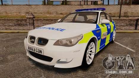 BMW M5 E60 City Of London Police [ELS] para GTA 4