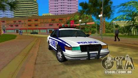 GTA IV Police Cruiser para GTA Vice City
