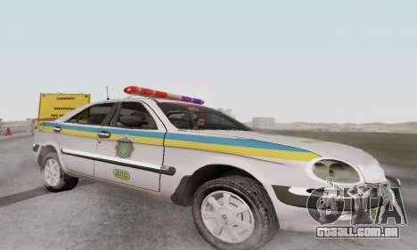 GÁS-3111 Miliciâ Ucrânia para GTA San Andreas esquerda vista