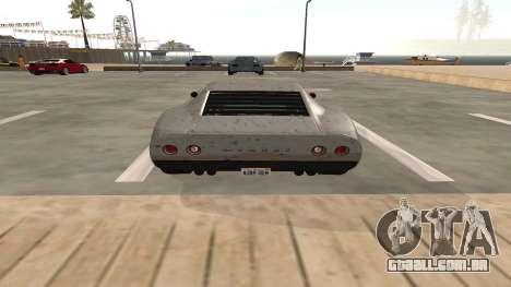 Monroe de GTA 5 para GTA San Andreas vista traseira