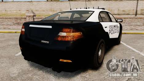 GTA V Vapid Steelport Police Interceptor [ELS] para GTA 4 traseira esquerda vista