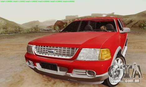Ford Explorer 2002 para GTA San Andreas esquerda vista