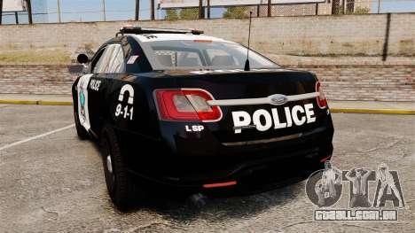 Ford Taurus Liberty State Police para GTA 4 traseira esquerda vista