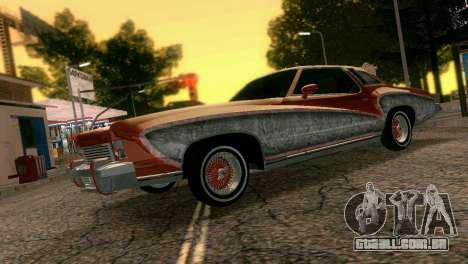 Chevy Monte Carlo Lowrider para GTA Vice City deixou vista