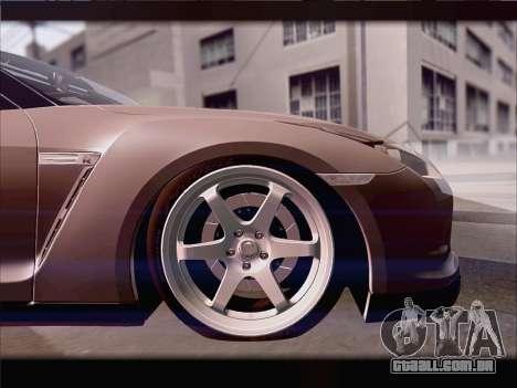 Nissan GT-R Spec V Stance para GTA San Andreas vista interior