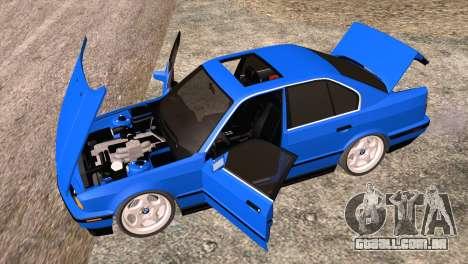 BMW 535i E34 Mafia Style para GTA San Andreas vista interior