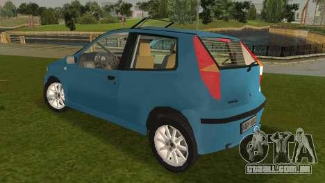 Fiat Punto II para GTA Vice City vista traseira esquerda