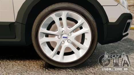 Volvo XC70 Police [ELS] para GTA 4 vista de volta