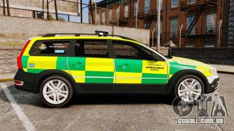 Volvo XC70 Paramedic [ELS] para GTA 4 esquerda vista