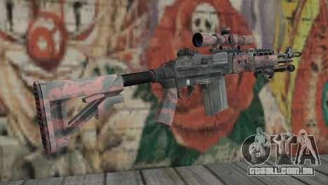 M14 EBR Red Tiger para GTA San Andreas segunda tela