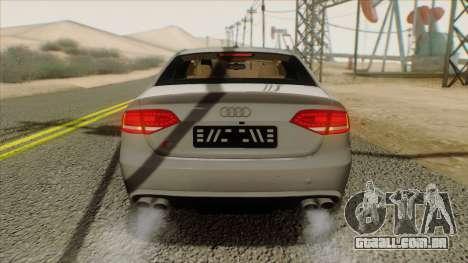 Audi S4 para GTA San Andreas vista traseira