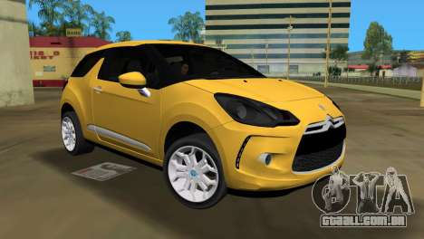 Citroën DS3 2011 para GTA Vice City deixou vista