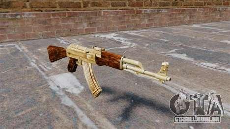 AK-47 banhado a ouro para GTA 4
