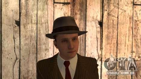 Cole Phelps de L.A. Noire para GTA San Andreas terceira tela