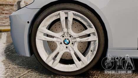 BMW M5 Unmarked Police [ELS] para GTA 4 vista de volta