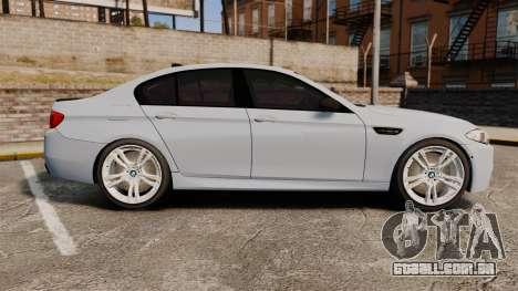 BMW M5 Unmarked Police [ELS] para GTA 4 esquerda vista